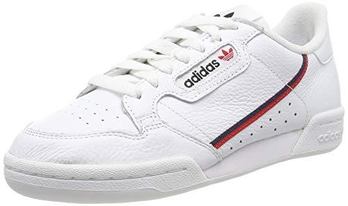 Adidas Continental 80, Zapatillas de Gimnasia para Hombre, Blanco FTWR White/Scarlet/Collegiate Navy, 42 EU