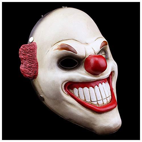 Maske YN Harvest Tag 2 Zahltag Halloween Horror Requisiten Cos Zeigen Robber Clown Joker Ghost Festival Supplies