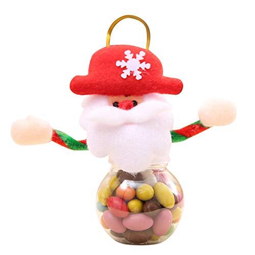 Gusspower Adornos de Navidad Almacenamiento Lindo Caramelo Navidad Puede decoración Tarro casero de Comida Galleta Regalo (A)