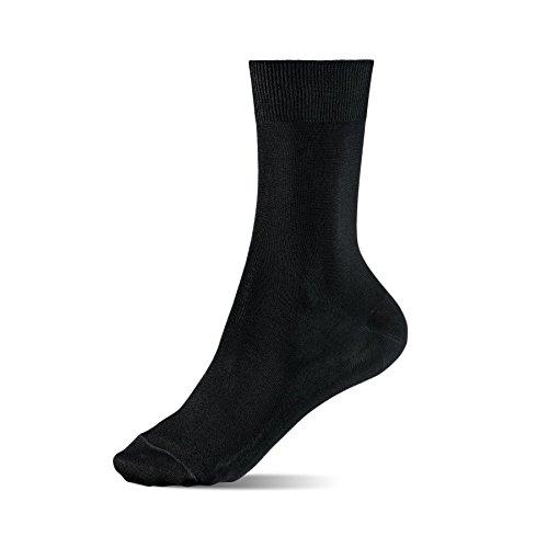 Alpensocken® Spezial Silber Socken Anti-Geruch Anti-Schweiß Sport Business Casual (36-40) 5-Pack (Anti Geruch Socken)