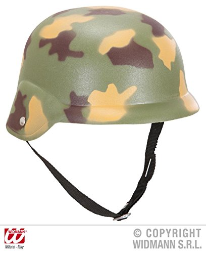 HELM - SOLDAT -, Camouflage Tarnfarbe Militärkleidung Tarnung (Kostüm Uniform Soldat)