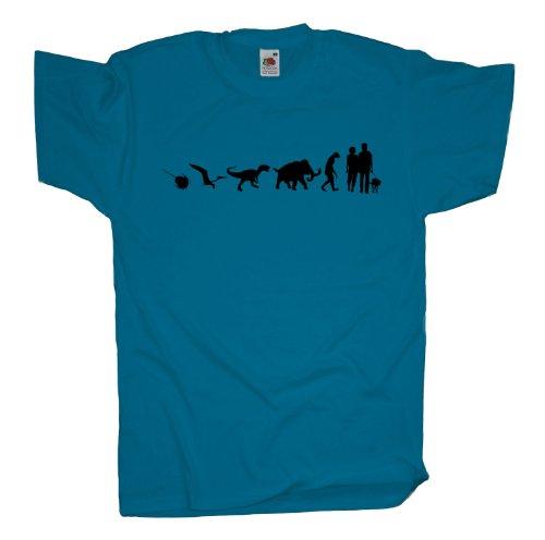 Ma2ca - 500 Mio Years - Hund Gassi gehen T-Shirt Azure