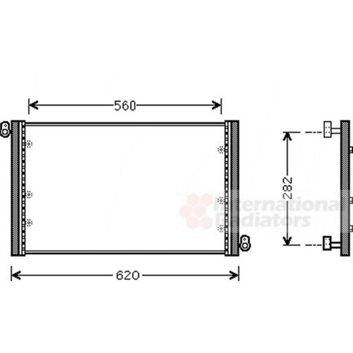 Preisvergleich Produktbild Van Wezel 17005272 Kondensator,  Klimaanlage
