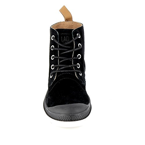 Palladium Damen London LP Mid W Hohe Sneaker, Braun Noir