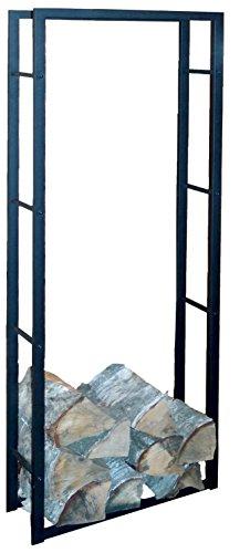 XXL Kaminholzregal Metall 150cm Kaminholzständer Holz-Korb Regal Kaminholzhalter