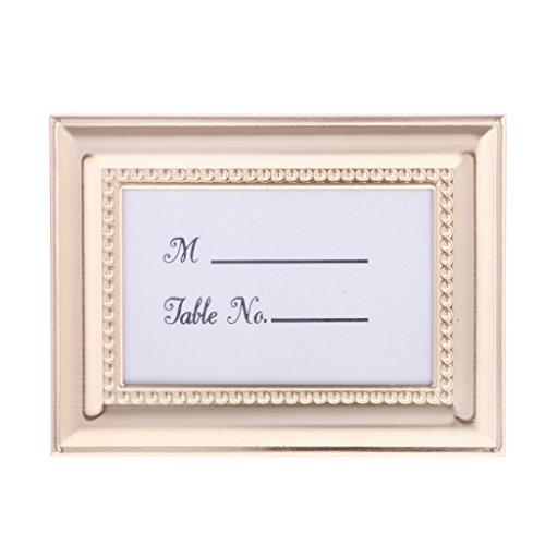 (MagiDeal Hochzeit Tischkarte Halter Rahmen,Bild Dekoration - Gold, 10 x 7,5 cm)