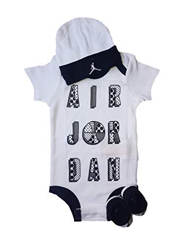 Imagen de nike jordan  juego de gorro y calcetines, 3 unidades negro/blanco 6 12 meses 70 80 cm