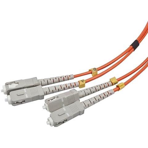 Gembird CFO-SCSC-OM2-2M - Cable de fibra óptica (SC, SC, Macho/Macho, OM2, Naranja, Multi-mode)