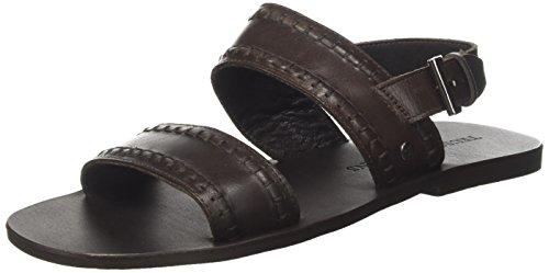 Trussardi Jeans 77A00089 - Sandalias de Vestir de Cuero para Hombre Marrón Size: 40 EU