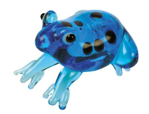 Blue Bug vidrio figuras Reptiles - rana azules