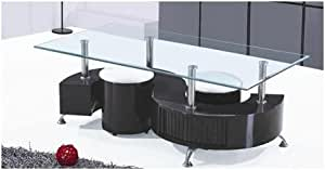 S- Shape Coffee Table (High Gloss-Black)