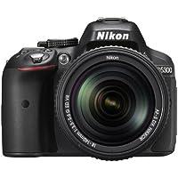"""Nikon D5300 Kit con objetivo AF-P 18-55mm VR - Cámara réflex digital de 24.2 Mp (pantalla 3.2"""", estabilizador óptico, grabación de vídeo Full HD), color negro - [Versión Nikonistas]"""