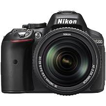 Nikon D5300 SLR-Digitalkamera (24,2 Megapixel, 8,1 cm (3,2 Zoll) LCD-Display, Full HD, HDMI, WiFi, GPS, AF-System mit 39 Messfeldern) Kit inkl. AF-S DX 18-140 VR Objektiv schwarz