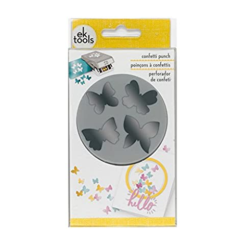 EK tools Konfetti Schmetterling, grau, groß (Ek Success Border Punches)
