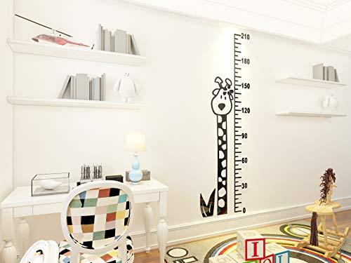 3d Stereo Acryl Crystal Giraffe Höhe Aufkleber Cartoon Kinderzimmer Wohnzimmer Xuan Guan dekorativen Wall Sticker 210 * 64cm schwarz -