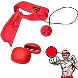 Ancees Fight Ball Reflex Boxing Set, Punchingball Boxen für Kinder Erwachsene Speed Trainingsball für Gym Boxen MMA und Andere Kampfsportarten