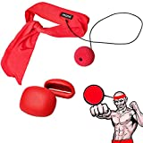 Ancees Fight Ball Reflex, Boxing Speed Ball Elastico Pugilato Punching Training Head Ball Set Adatto per Palestra, Boxe, MMA, Arti Marziali (Rosso)