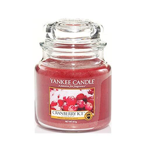 Yankee 1244597e Cranberry Ice 14.5 oz Jar Candle, Medium, Rojo, Mediano