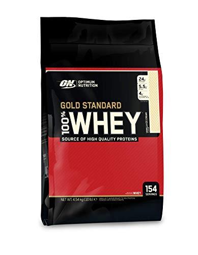 Optimum Supplemento Nutrizionale Whey Gold Std Vanilla 10 lb Multi Lingual 4.54 kg 146 154 Porzioni