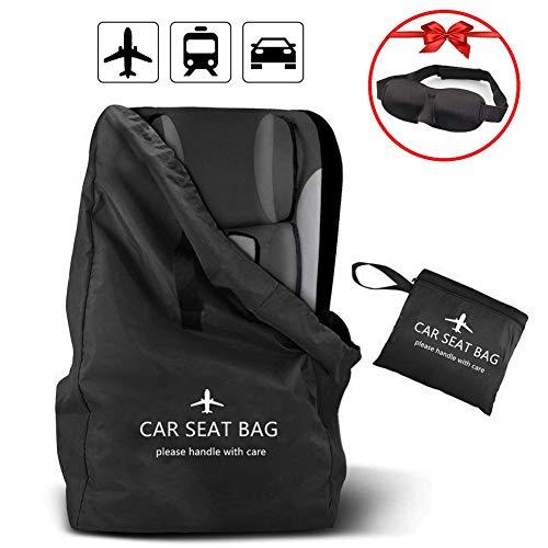 Lenture Kindersitz Tasche mit Rucksackgurten,Bezug und Schutz für Autositze, Kinderwagen, Kinderwagen, Babyschalen, Booster und Rollstühle, Wasserdicht, Ideal für Reisen, Flugzeug, Lagerung (Schwarz) -