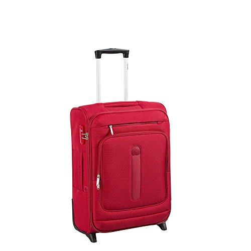 Delsey Manitoba luggage Trolley cabin Slim 2R 55 black rouge