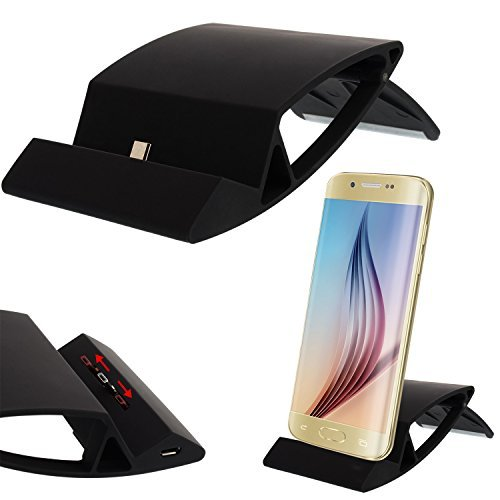 Universal Micro USB Ladestation für Smartphone Handy für Samsung Galaxy S2 S3 S4 S6 Edge Mini, Alpha 3 5 7, Note 1 2 3 4, Sony Xperia Z4 Z3+ Z3 Z2 Z1 compact Mini, HTC ONE M9 M8 M7 mini, Nokia Lumia 532 535 640 640XL XL 930 Blackberry , LG G2 G2S G3 G3S G4, Motorola Moto G X, HTC One M7 M8 M9 Butterfly Desire 500 600 601 610 816 Eye Evo 3D, Huawei Honor Ascend P8 P7 P6 G6 P1 Lite , Docking Station Tischladestation Dock Lade - Schwarz