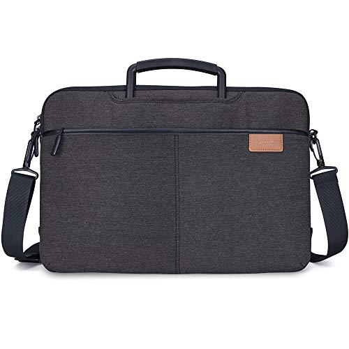 lymmax Laptoptasche, 10-14-Zoll-Notebooktasche mit Schultergurten, wasserdichte Umhängetasche Aktentasche Schultertasche Schutzhülle für Dell/HP/Lenovo/Acer/Asus/Chrome