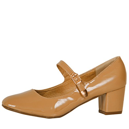 0438bce3268d ByPublicDemand Xanthe Womens Mid Block Heel Mary Jane Smart Office Court  Shoes