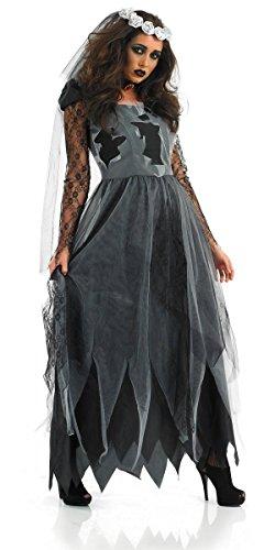 BLACK CORPSE BRIDE (Bride Kostüm Für Halloween Kinder Corpse)