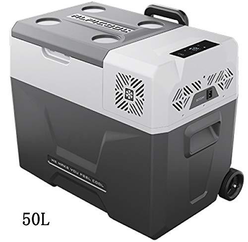 SSLL Car Refrigerator Mini Tragbarer Kompressor-Kühlschrank Tragbare Thermo-elektrische Kühlbox/Heizbox,30 40 50 Liter, 12/24 V DC/ 220-240 Volt AC Für Auto, LKW, Boot Und Steckdose,50LLithium