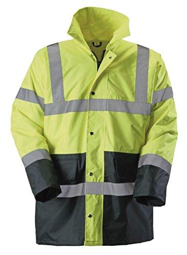 Baratec EN471 - Giubbotto fluorescente ad alta visibilità giallo/navy, Classe 3, giallo