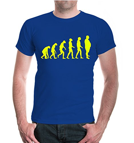 buXsbaum® T-Shirt The Evolution of Beer Belly Royal-Neonyellow