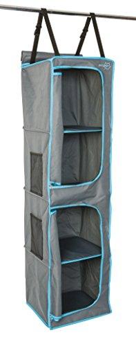 Bo-Camp - Organizador de Camping con 4Compartimentos y Puertas, de Color Antracita