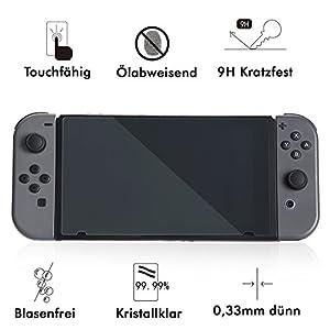 Nintendo Switch Schutzfolie Glas Tempered Glass Schutzhülle Screen Protector LCD 9H 0,3mm