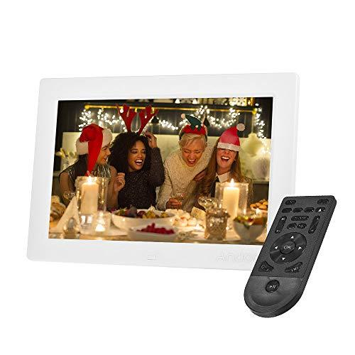 Androer 10 pollici cornice digitali, 1200 * 800 alta risoluzione 1080p ips led digital frame con telecomando supporta la riproduzione casuale per il regalo di compleanno di natale