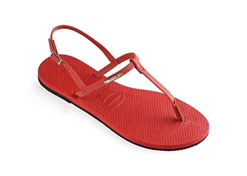havaianas you riviera womens rubber sandal in red