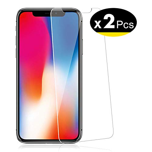 "NEW'C Lot de 2, Verre Trempé pour iPhone 11 Pro, iPhone X, iPhone XS (5.8""), Film Protection écran - Anti Rayures - sans Bulles d'air -Ultra Résistant (0,33mm HD Ultra Transparent) Dureté 9H Glass"