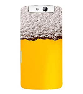PrintVisa Beer Mug Design 3D Hard Polycarbonate Designer Back Case Cover for Oppo N1