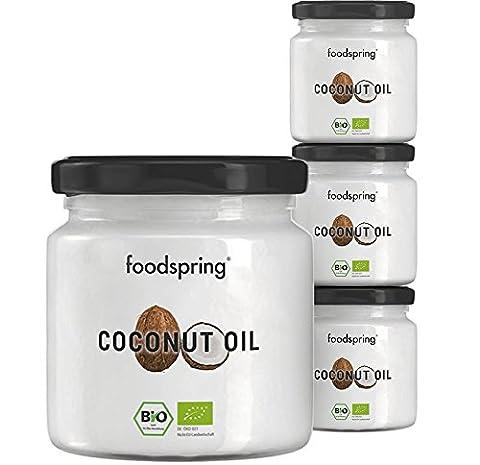 foodspring Bio Kokosöl, 4er-Paket (4x320g)