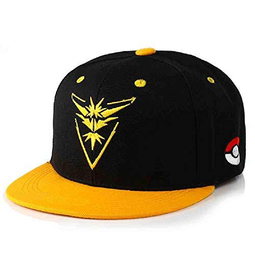 ZIJS Team Valour Casquette De Baseball Unisexe Broderie Mystic Équipe Instinct Hip Hop Chapeau Métal Pokemon Jeu