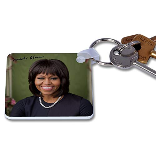 Michelle Obama 1 Novelty Keyring Printed Autographed Key Chain