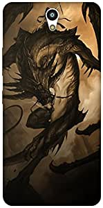 The Racoon Grip dragon rider hard plastic printed back case / cover for Lenovo Vibe S1
