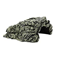 Garosa Stone Cave Shelter Hiding Turtle House for Reptile Turtle Frog Zoo Aquarium Decoration Ornament(Large)