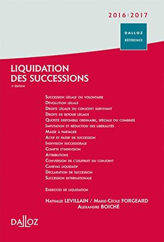 Liquidation des successions 2016/2017
