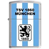 Zippo 2.003.197 Feuerzeug TSV 1860 München Offizielles Lizenz, chrom brushed, 4-farbiger Druck