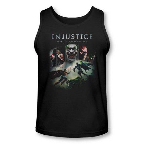 Injustice Gods Among Us - Herren Schlüssel Art Tank-Top Black