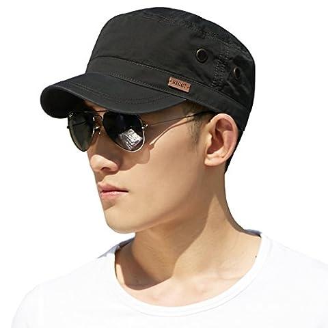 Siggi Unisex Mens Cotton Army Caps Military Hats Baseball Sun Hat Trucker Cadet Combat Cap for Men 61-64CM