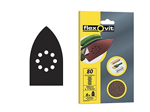 Preisvergleich Produktbild 50 Stück Flexovit Detail Schleifen Blatt – 105 mm x 175 mm – ausgewählten (6 Stück)