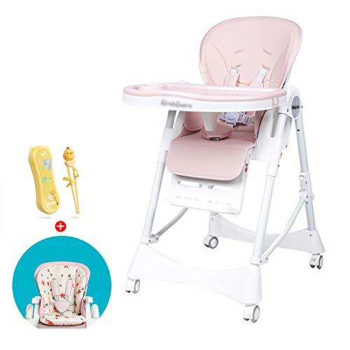 Kinderhochstuhl, Bequemer Sitz Mit Abnehmbarer Platte Multifunktions-beweglicher Säuglingsessen-Hocker Unisex in Rosa & Blau & Grün für Zuhause, für 0-3 Jahre (Farbe : C) -