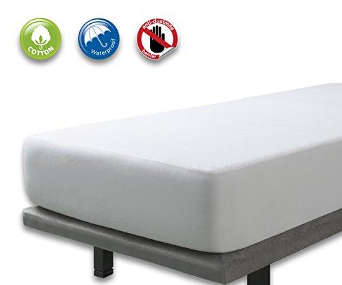 VELFONT – Frottee-Matratzenschoner aus Baumwolle, wasserdicht – verfügbar in verschiedenen Größen - 160x190/200cm